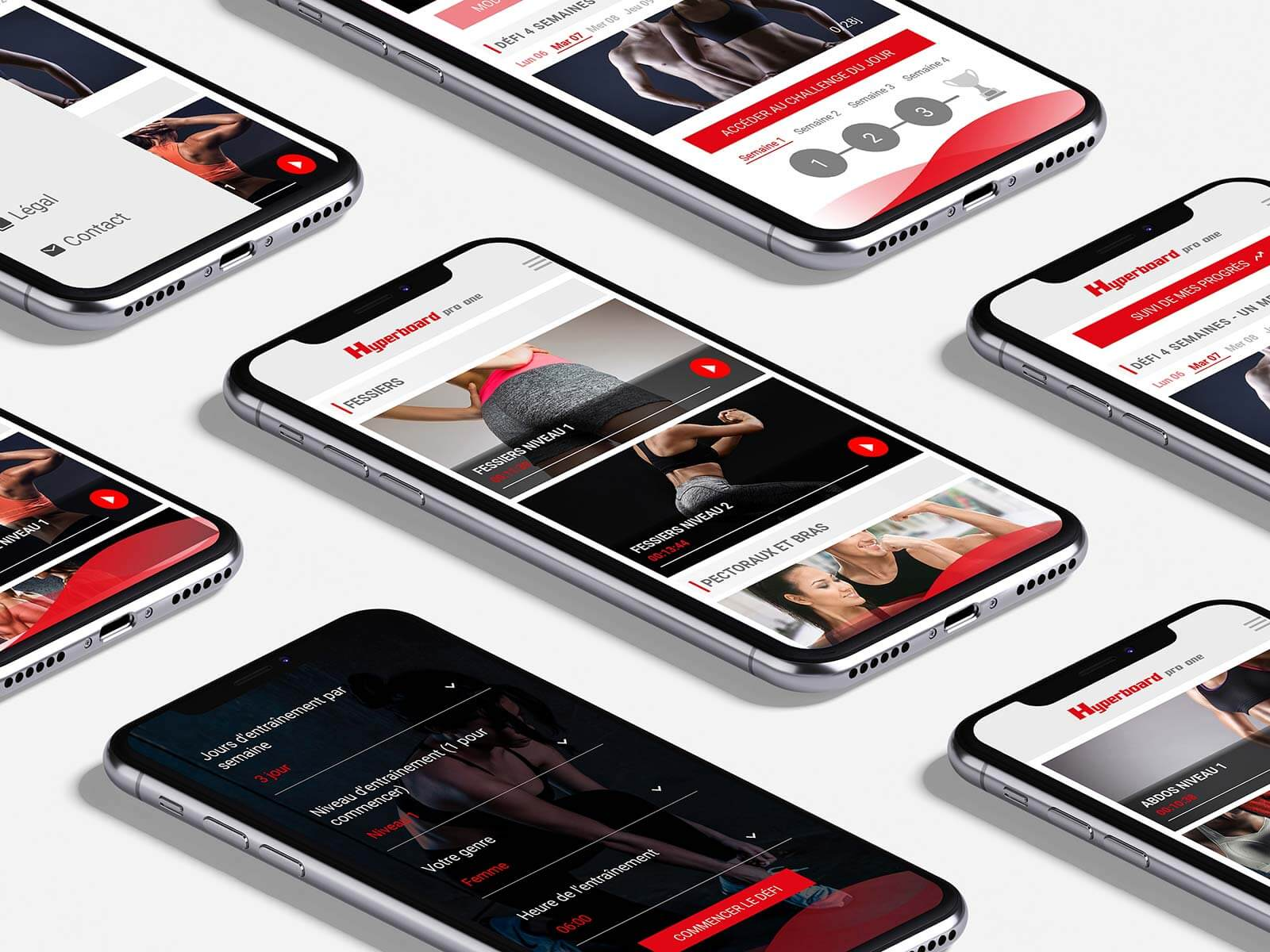 Visuels écrans application mobile Hyperboard